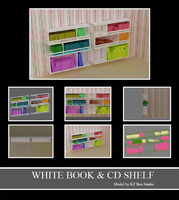 50018 White Books and CDs Shelf