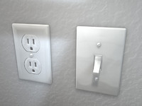 Outlet and Light Switch