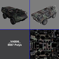 polys vab armoured vehicle 3d max