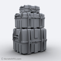 3d military case set small