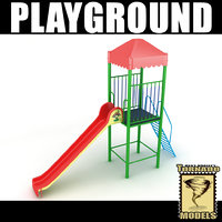 3d playground ground model