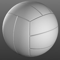 3d volleyball ball model