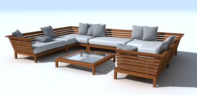Teak Gloster Estrada Lounge Chair 3d Model