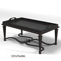 chelini classic table coffee with tray ftbo 2061