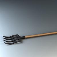fork garden 3d max