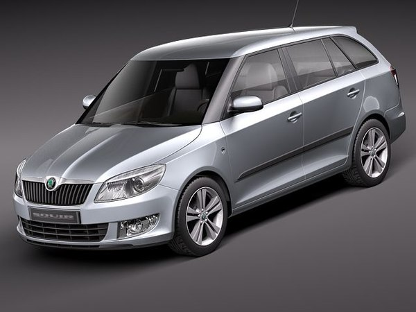 skoda fabia 2011 combi 3d model. Black Bedroom Furniture Sets. Home Design Ideas