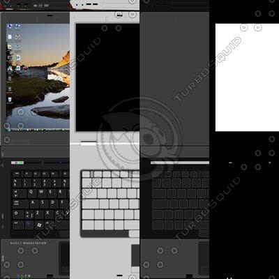 Laptop texture