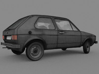 golf mk1 car 3d model
