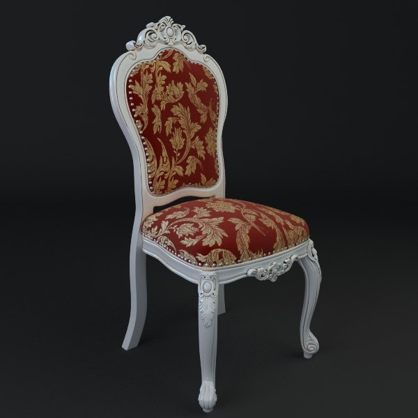 Chair ornate antique armless