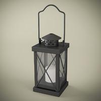Candle Lantern Black