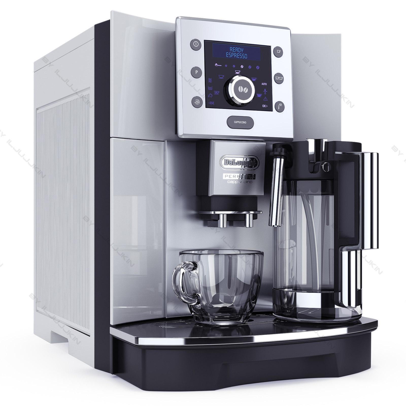 Coffee maker 3d model - Machine cafe delonghi ...