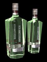 3d model bottles new amsterdam gin
