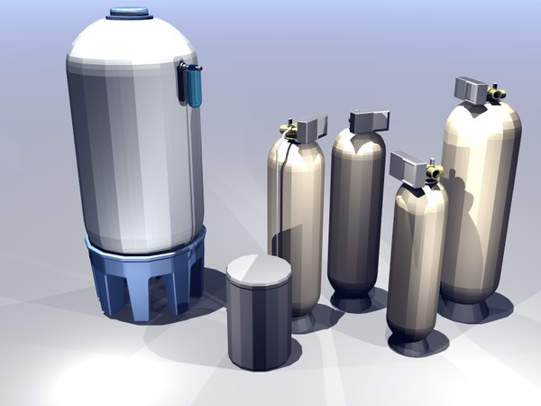 pretreatment water tank 3d model - Pretreatment Equipment... by ForeverZ
