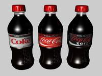 small bottles 3d model