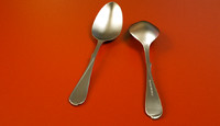 stainless steel spoon - 3d model