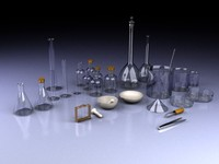 lab equipment 3d model