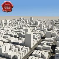 3d town v2 model