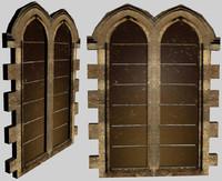 3d tall victorian window