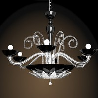 FDV Collection - ORLEANS L12 - Orleans Chandelier by Marina Toscano classic modern crystal murano glass chandelier black