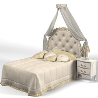savio firmino classic single bed canopy night stand pillows 1739d 1593  kid child tufted