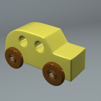 wood wooden toy car 3ds free