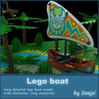 maya lego boat