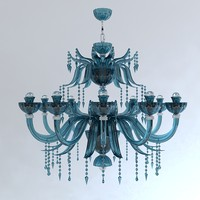 classical chandelier pendant light 3d model
