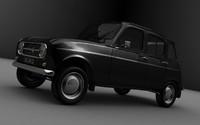 classic renault 3d model