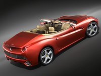 3d ferrari california car sport model
