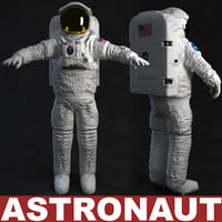 astronaut t-pose 3d model