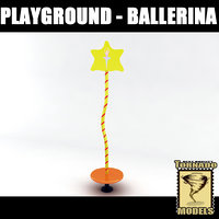 3d playground element - ballerina