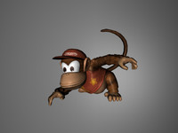 3ds max diddy kong