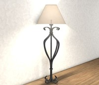 metal table lamp 3d model