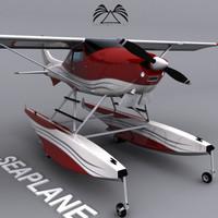 seaplane sea 3d model