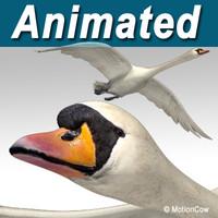 flying swan 3d model