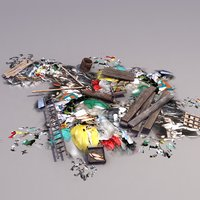 rubbish pile 3d max