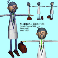 3d doctor man character model