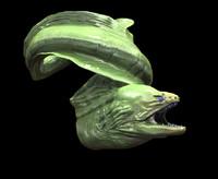 moray eel 3d model
