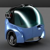 2 car concept 3d model