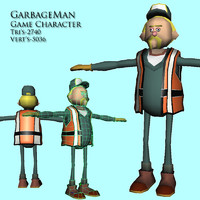 garbage man 3d model