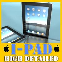 realistic apple ipad 3d model
