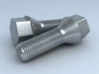 3d model wheel screw