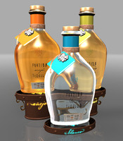 3d model of bottles partida tequila