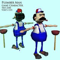 obj plumber man character