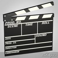 film slate 3d model