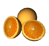 orange lowpoly