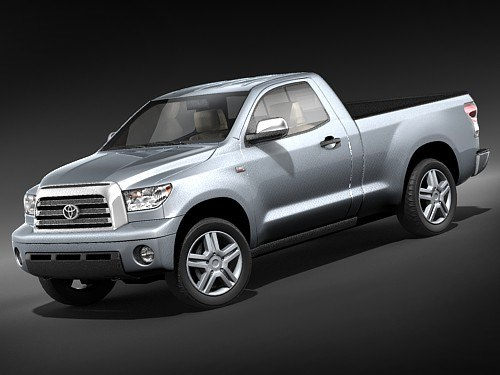 toyota tundra cab pickup 3d model