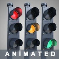 3d traffic light model