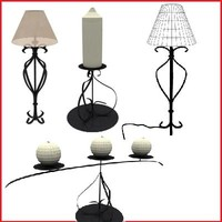 lamp and candle collection set
