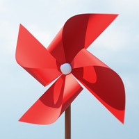 max paper windmill pin